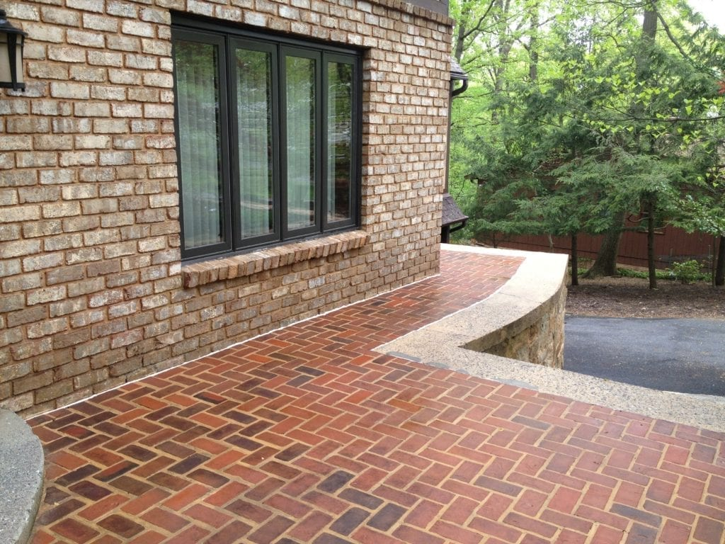 Brick patio cleaning and restoration services