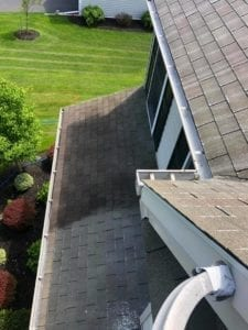 Liberty SoftWash can rid you of your ugly roof problem in Pennsylvania, Maryland and Delaware. The process we use when cleaning all types of roofing materials including asphalt shingles, slate tiles, cedar shake, metal and tile roofs, is called softwashing. The softwash process utilizes a low-pressure cleaning solution application which will remove the black streaks, algae, lichen and moss from your roof.